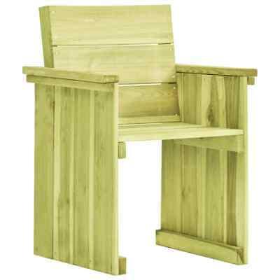 vidaXL Garden Chair FSC Impregnated Pinewood Outdoor Bench