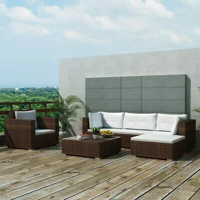 vidaXL Garden Lounge Set 17 Pieces Poly Rattan Brown Outdoor