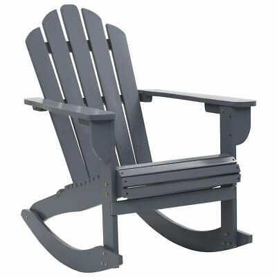 vidaXL Garden Rocking Chair Wood Grey Outdoor Porch Rocker