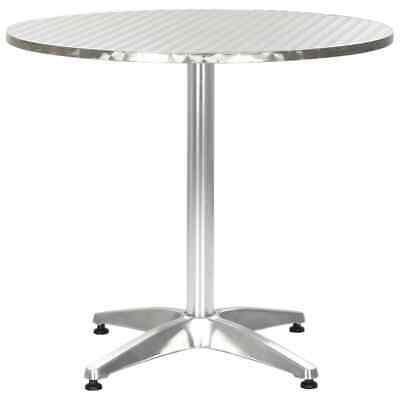 vidaXL Garden Table Silver 80cm Aluminium Outdoor Balcony