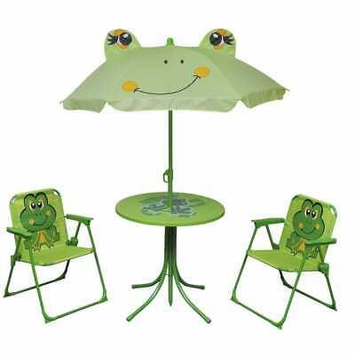 vidaXL Kids' Garden Furniture Set 4 Piece Green Outdoor