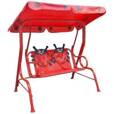 vidaXL Kids Swing Seat Red Garden Outdoor Children Hammock