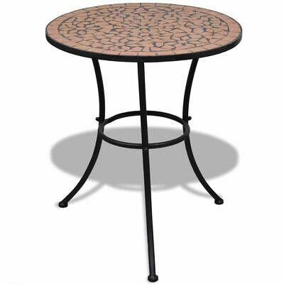 vidaXL Mosaic Table 60cm Terracotta Outdoor Garden Balcony