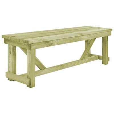 vidaXL Outdoor Bench 140x38x45cm FSC Wood Garden Backyard