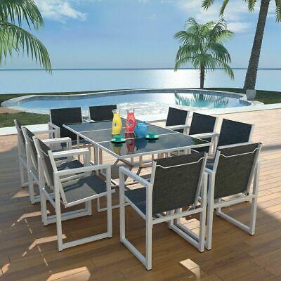 vidaXL Outdoor Dining Set 11 Piece 165x100x72cm Aluminium