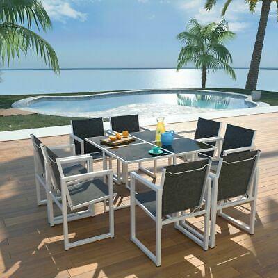vidaXL Outdoor Dining Set 9 Piece 109x109x72cm Aluminium