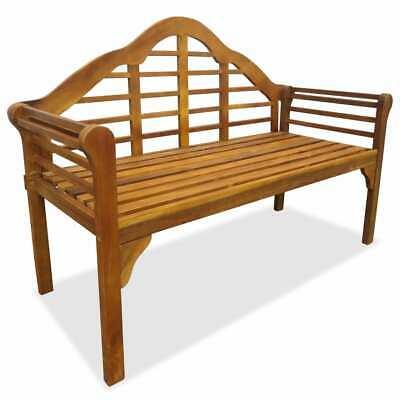vidaXL Solid Acacia Wood 2-Seater Garden Bench Outdoor Park