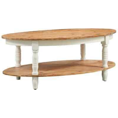 vidaXL Solid Acacia Wood Coffee Table Wooden Couch Entryway