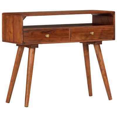 vidaXL Solid Acacia Wood Console Table 90cm Hallway Side