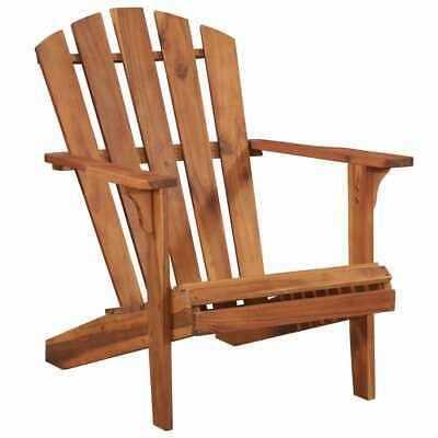vidaXL Solid Acacia Wood Garden Adirondack Chair Outdoor