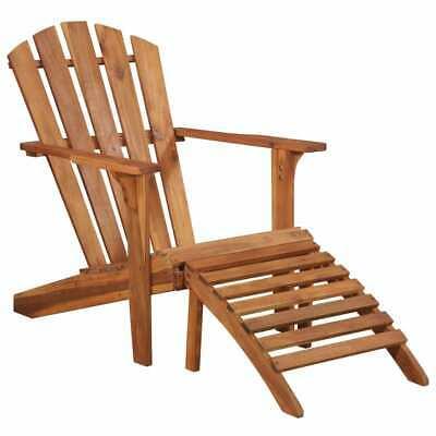 vidaXL Solid Acacia Wood Garden Adirondack Chair with