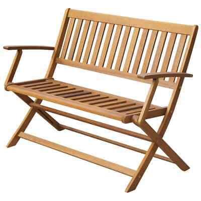 vidaXL Solid Acacia Wood Garden Bench 120cm Outdoor Patio