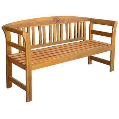 vidaXL Solid Acacia Wood Garden Bench 157x45x82.5cm Outdoor