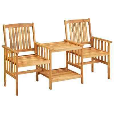 vidaXL Solid Acacia Wood Garden Chairs with Tea Table