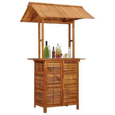 vidaXL Solid Acacia Wood Outdoor Bar Table with Rooftop