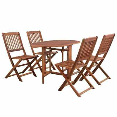 vidaXL Solid Acacia Wood Outdoor Dining Set 5 Piece Garden