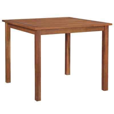 vidaXL Solid Acacia Wood Outdoor Dining Table 90x90x74cm
