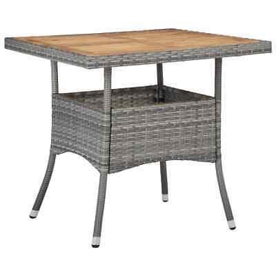 vidaXL Solid Acacia Wood Outdoor Dining Table Grey Poly