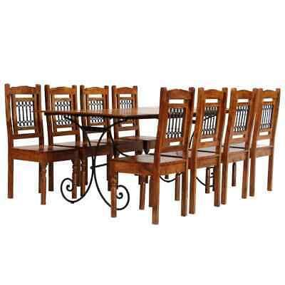 vidaXL Solid Acacia Wood with Sheesham Finish Dining Table