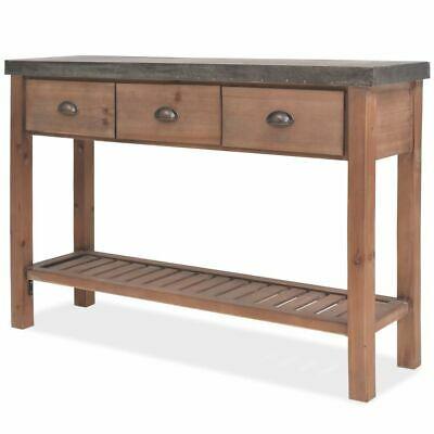 vidaXL Solid Fir Wood Console Table 122x35x80cm Hallway