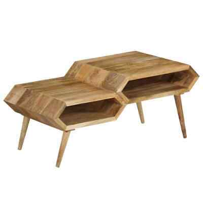 vidaXL Solid Mango Wood Coffee Table 104x50x45cm Living Room