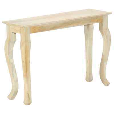 vidaXL Solid Mango Wood Console Table 110cm Hallway Side