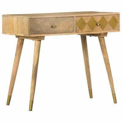vidaXL Solid Mango Wood Console Table 89cm Hallway Side