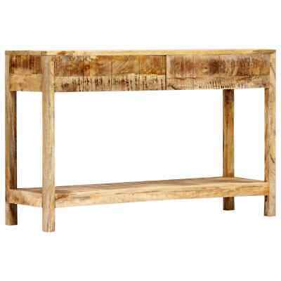 vidaXL Solid Mango Wood Console Table Rustic Style Side Hall