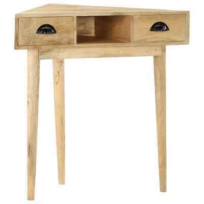 vidaXL Solid Mango Wood Console Table with 2 Drawers