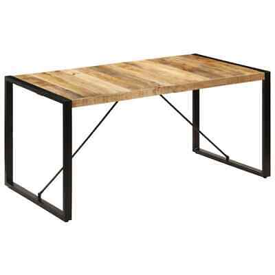 vidaXL Solid Mango Wood Dining Table 160cm Kitchen Dinner