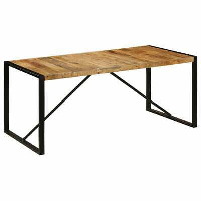 vidaXL Solid Mango Wood Dining Table 180cm Industrial Retro