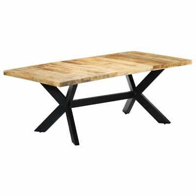 vidaXL Solid Mango Wood Dining Table 200cm Kitchen Dinner