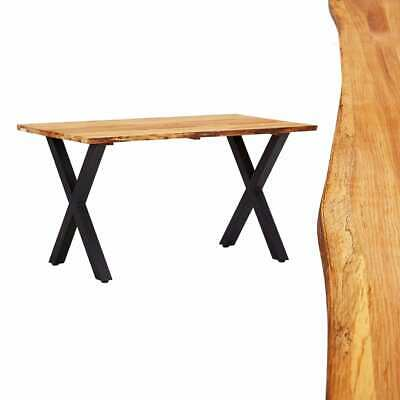vidaXL Solid Oak Wood Dining Table 140cm Office Kitchen