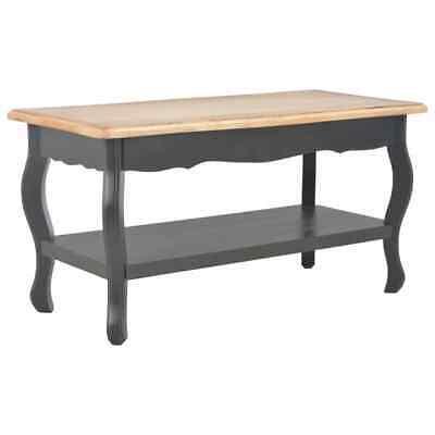 vidaXL Solid Pine Wood Coffee Table Black and Brown 87.5cm
