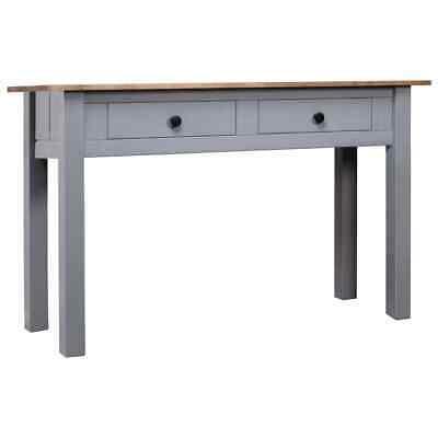 vidaXL Solid Pine Wood Console Table Grey Panama Range