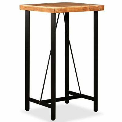 vidaXL Solid Sheesham Wood Bar Table 60cm Dining Breakfast
