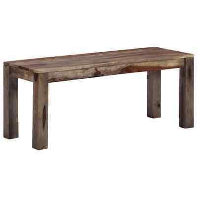 vidaXL Solid Sheesham Wood Bench 110cm Grey Kitchen Entrance
