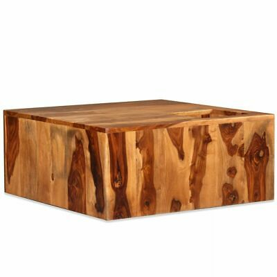 vidaXL Solid Sheesham Wood Coffee Table 70x70x30cm Living
