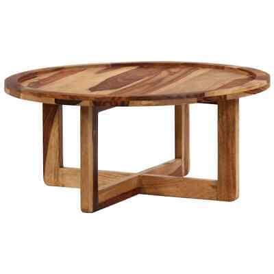 vidaXL Solid Sheesham Wood Coffee Table 80x35cm Sturdy Side