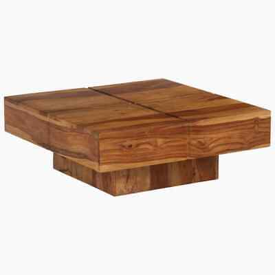 vidaXL Solid Sheesham Wood Coffee Table 80x80x30cm Home