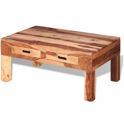 vidaXL Solid Sheesham Wood Coffee Table with 2 Drawers
