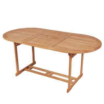 vidaXL Teak Outdoor Dining Table 180x90x75 cm Weatherproof