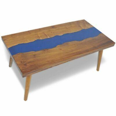 vidaXL Teak Resin Coffee Table 100x50x40cm End Living Room
