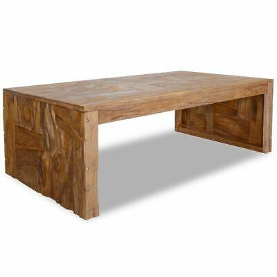 vidaXL Teak Wood Coffee Table Erosion Living Room Office End