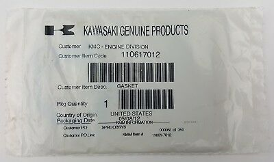 Kawasaki  Air Intake Gasket Genuine Part NOS OEM