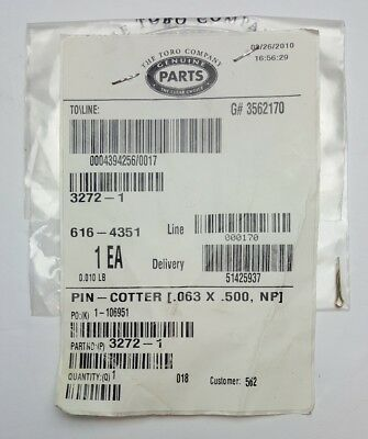 Toro  Pin-Cotter Genuine Original NOS OEM Part Qty x1