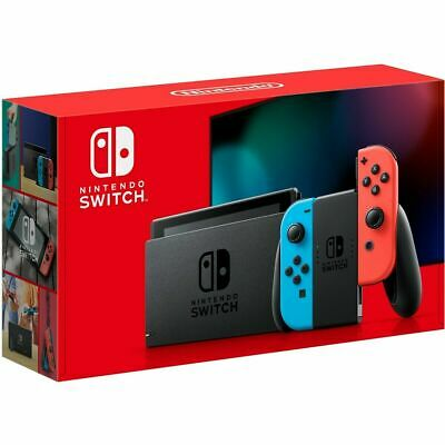 BRAND NEW UNUSED Nintendo Switch Console V2 Neon Red/Blue