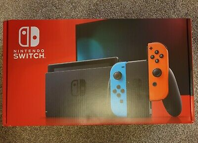 Nintendo Switch Console V2 - Neon with improved battery with