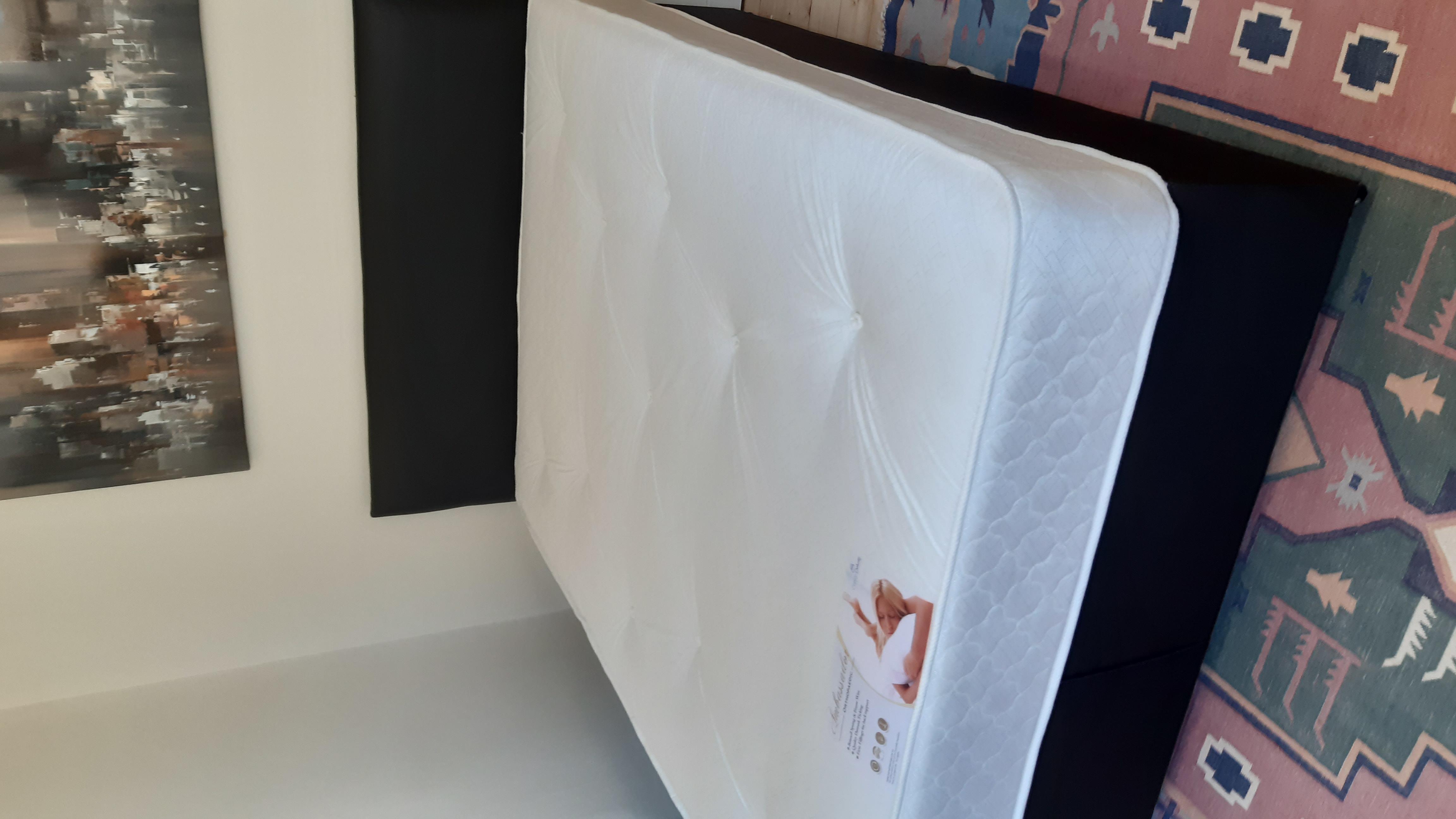 Brand new divan double bed mattress and headboard sg
