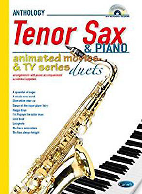 Animated Movies and TV Duets for Tenor Sax And Piano. Sheet